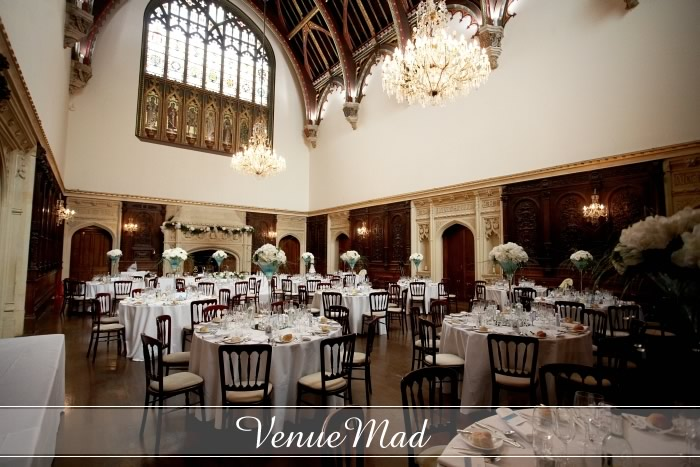 Canford School Grand Hall Wedding Reception