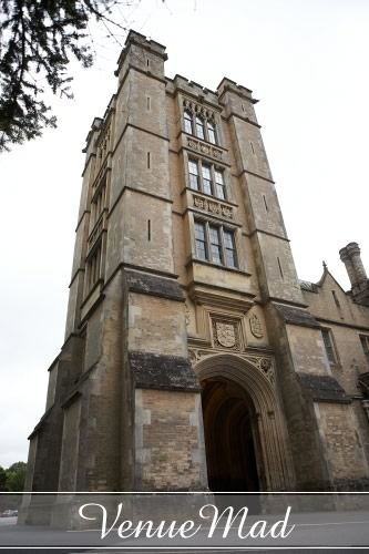 Front Tower Canford School Grand Entrance