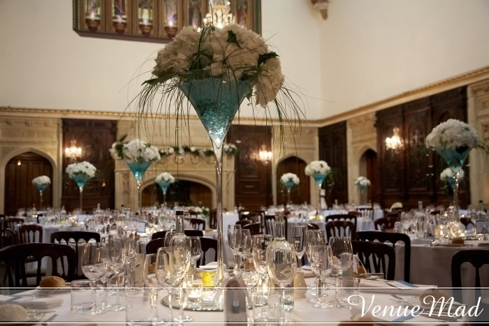 Table Center With Peonies At Canford School Wedding