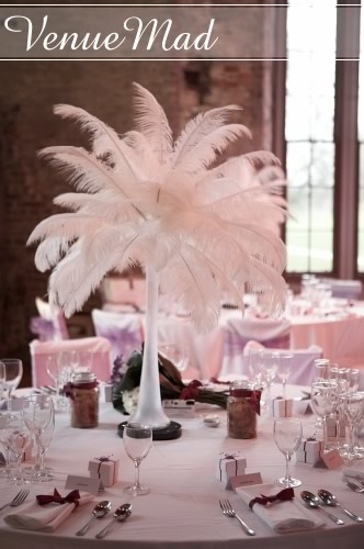 Feather Wedding Flower Bouquets